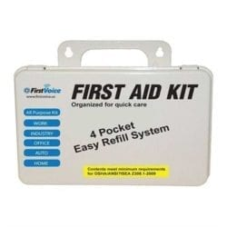 Think Safe Inc First Voice Basic First Aid Kit - Basic First Aid Kit