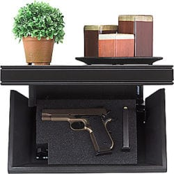 Tactical Walls 812 Pistol-Length Shelf with Rope Trim Magnetic Lock - birch