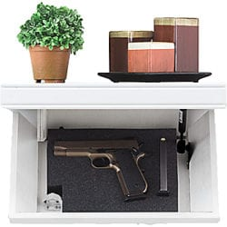 Tactical Walls 812 Pistol-Length White Shelf Magnetic Lock - birch