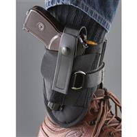 Blue Stone Safety D-Ring Lock Leather Ankle Holster, Sub-Compact Pistols, 9mm/.45 Caliber