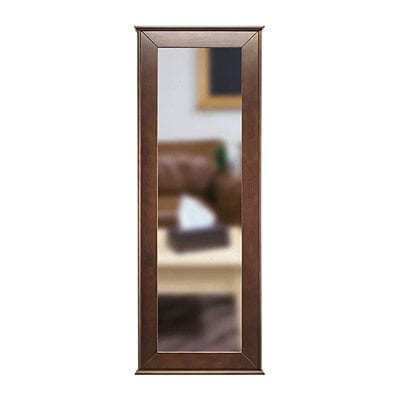 Tactical Walls 1450 Full Length Concealment Mirror - 1450 Full Length Hinged Mirror W/Safe Cherry