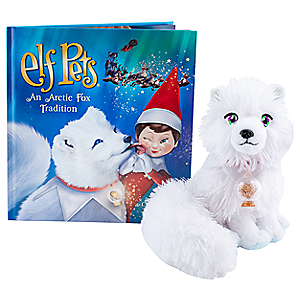 ELF ON A SHELF Elf on the Shelf Elf Pets: An Arctic Fox Tradition Book and Plush Set for Kids - night